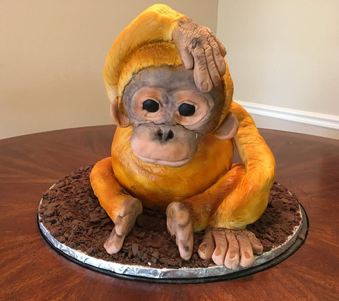 Sculpted Orangutan Cake