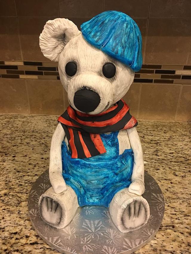 Sculpted Vintage Teddy Bear Cake