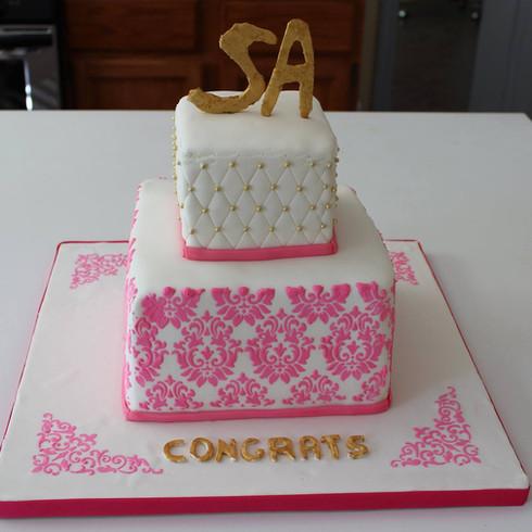 Demask Stencilled Cake