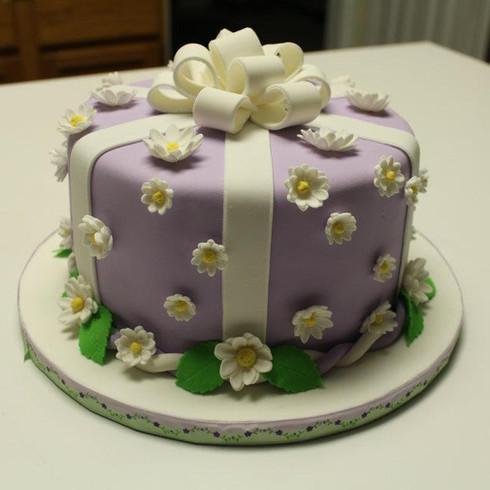 Purple Gift Box Cake