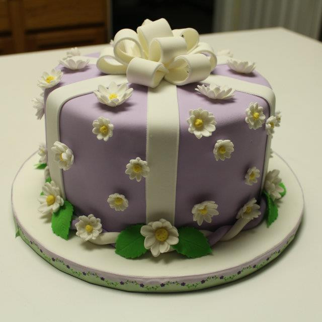 Purple Gift Box Cake