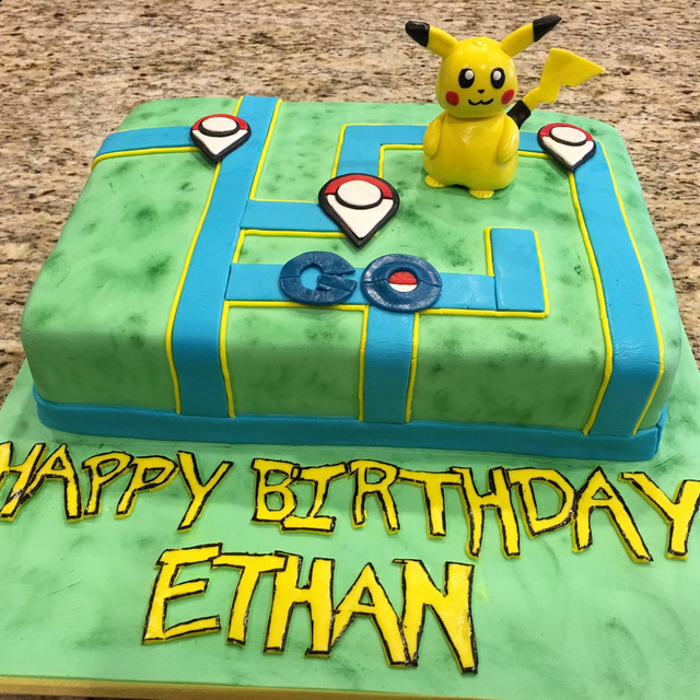 Pokemon Go theme Cake