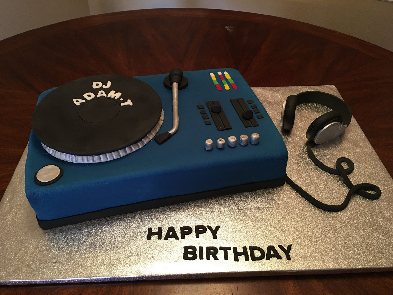Astounding Dj Turntable Birthday Cake Birthday Cards Printable Benkemecafe Filternl