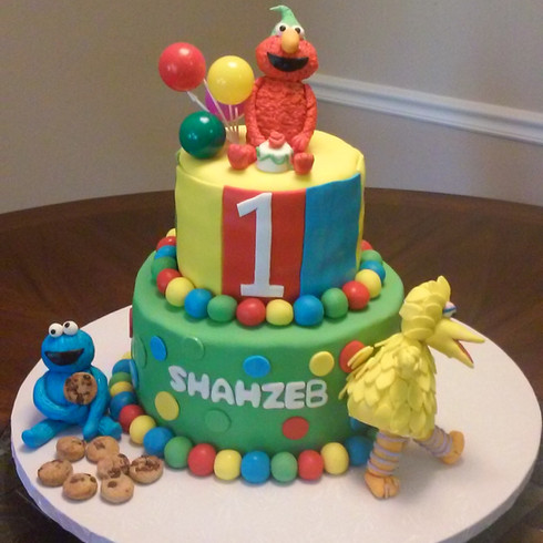 Sesame Street theme Cake