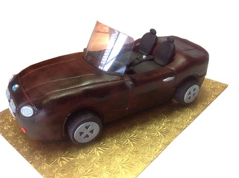Sculpted Convertible Car Cake