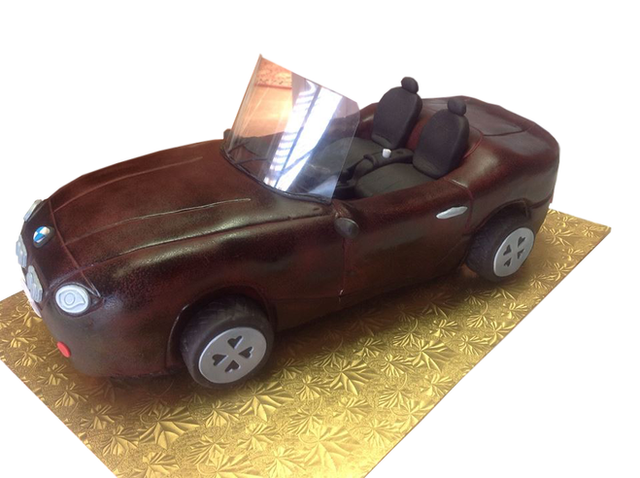 Sculpted Convertible Car Cake