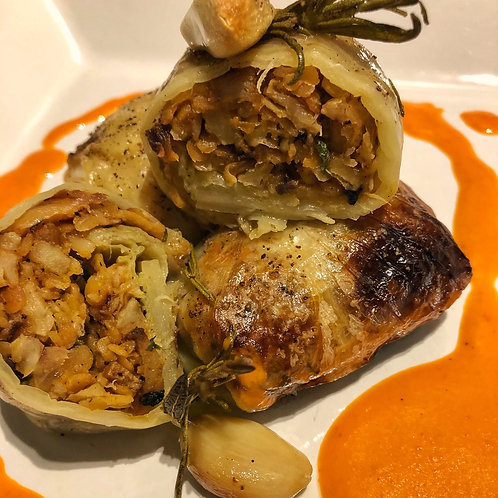 Gourmet Cabbage Rolls stuffed with Potatoes & Fresh Dill