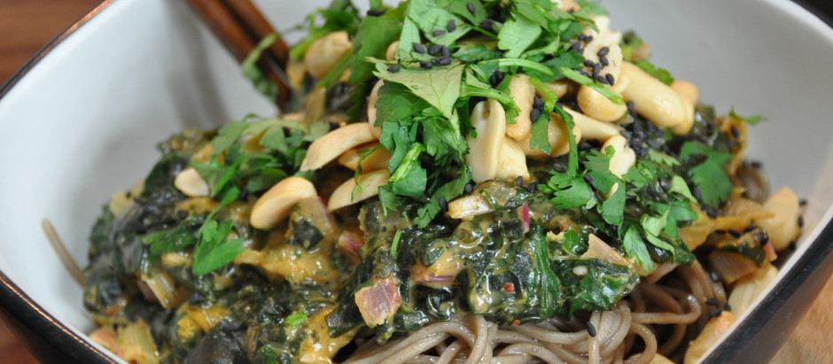 Beautiful Soba Noodles with SUPERCHARGED Peanut KIMCHI - 20grams of Protein in less than 10 Minutes!