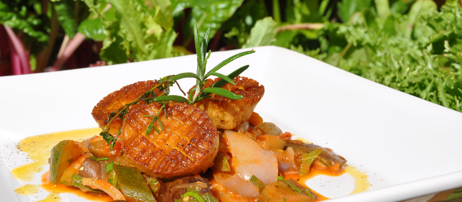 """Plant Based """"Easy to Cook"""" Ratatouille - Paired with some Beautiful """"King Oyster Mushroom Scallops"""""""