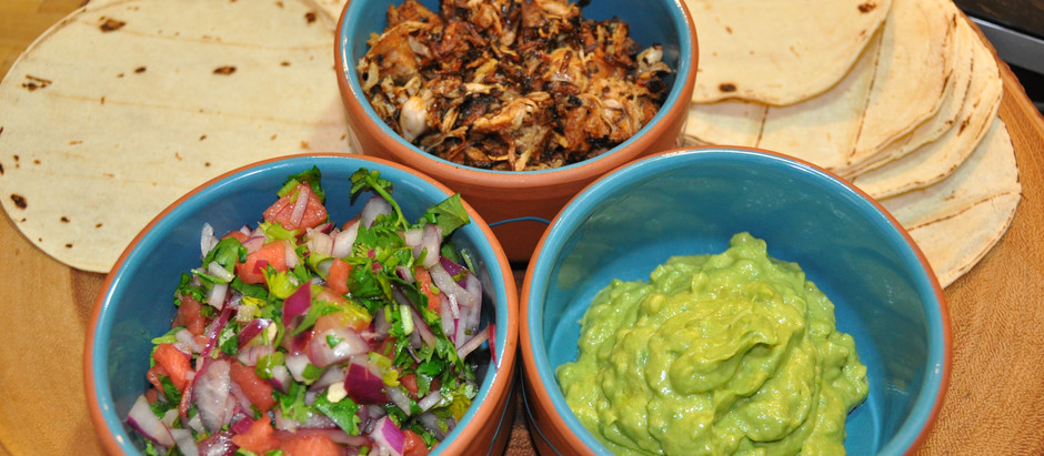 """Plant Based Fiesta - How to Cook Meatless """"Pulled Pork"""" with Soft Shell Tacos, an Avocado Aioli and"""