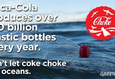 COCA-COLA NAMED MOST POLLUTING BRAND IN GLOBAL AUDIT OF PLASTIC WASTE