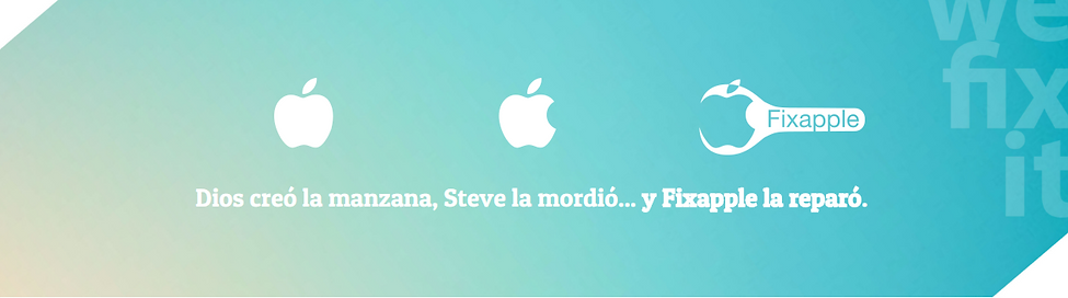 Fix Apple Slogan