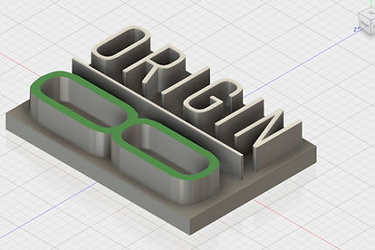 Origin8 Group logo in 3D CAD