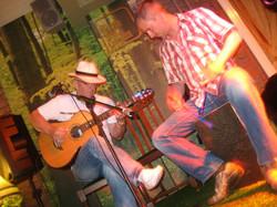 Cajon and guitar