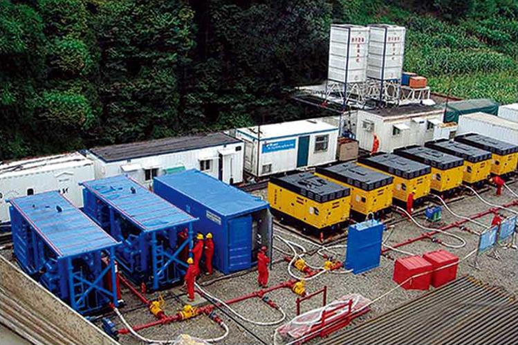 Equipamento completo de perfuração a gás