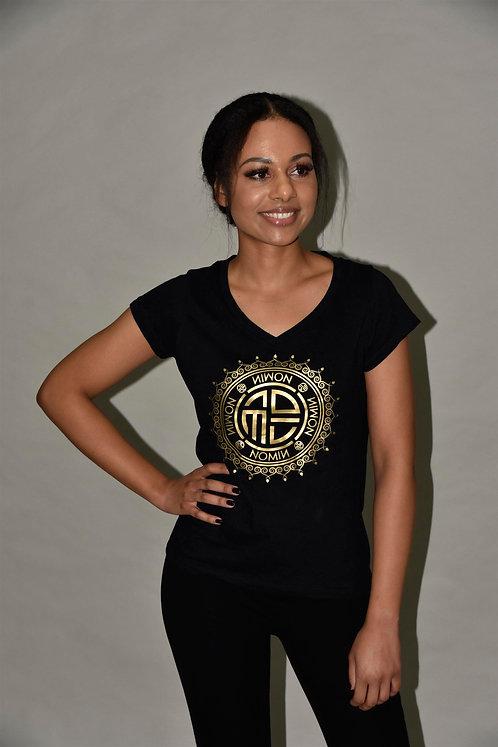NOMIN T-Shirt mit großem Logo vorne
