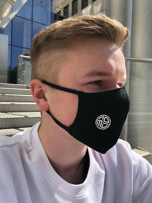 NOMIN-Designer-Maske (D/H) Schwarz mit Filtereinsatz