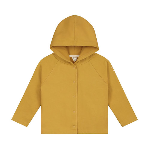 BABY HOODED CARDIGAN / Mastard