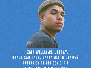 Live: Don Quez, Zair Williams, Jeesay, & More! October 24th at Brick & Mortar Music Hall