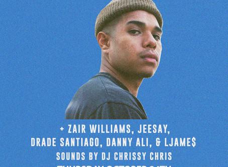 Live: Don Quez, Zair Williams, Jeesay, & More! October 24th at Brick & Mortar Music Hall
