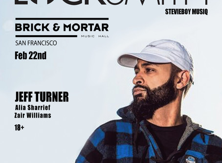 Live: Locksmith, Jeff Turner, Zair Williams, + More on 02/22 at Brick & Mortar Music Hall in SF!