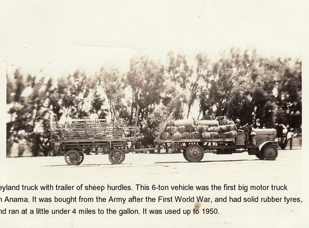 Leyland truck with trailer of sheep hurd