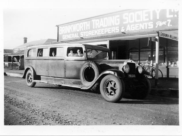School Bus at Brinkworth c 1950