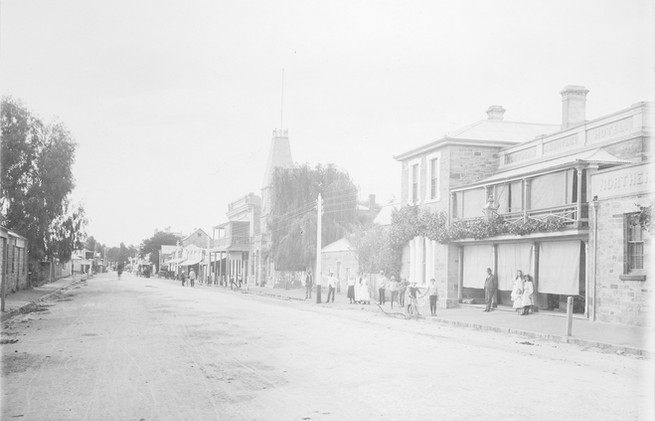The main street at Clare, South Australia
