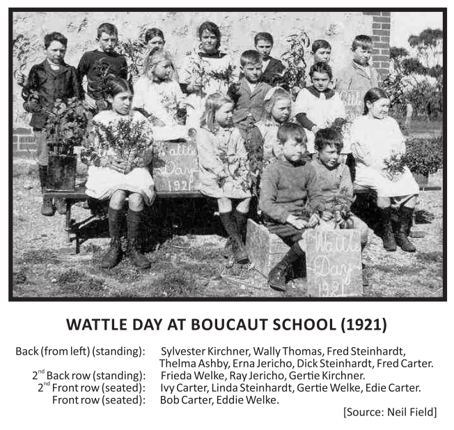 Wattle Day at Boucaut School (1921)