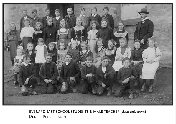 Everard East School Students and Male Te