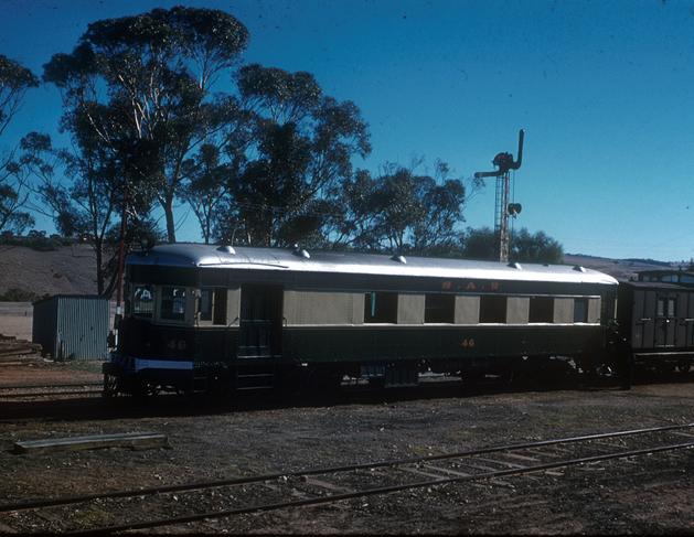 Barwell Bull motor railcar at Yacka c 1958