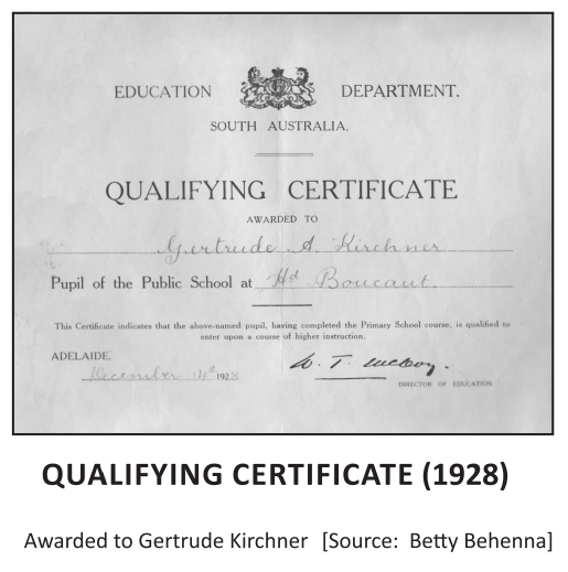 Gertrude Kirchner Qualifying Certificate