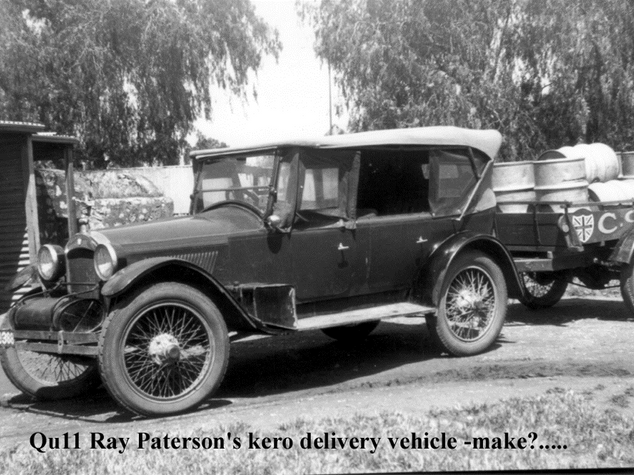 Paterson Fuel Delivery trailer with car 1924