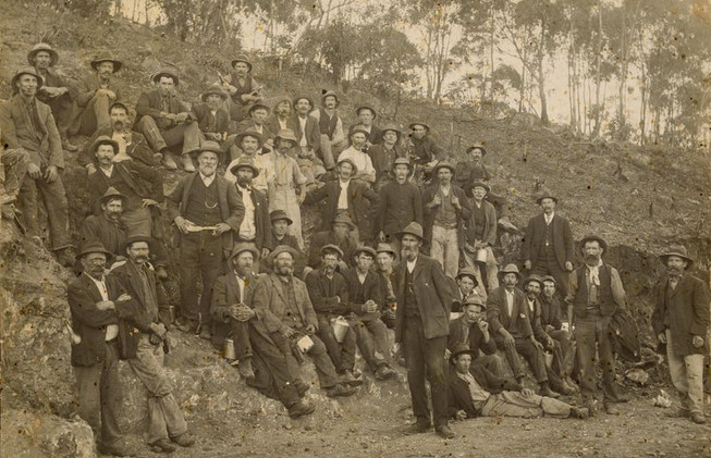 Workers at the site of Clare railway station