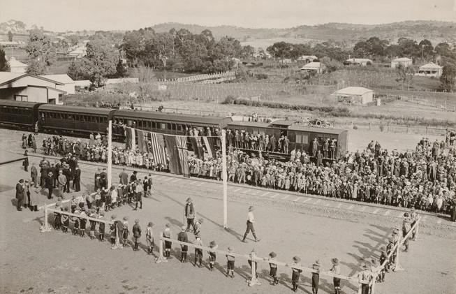 Clare railway opening, July 4, 1918.jpg