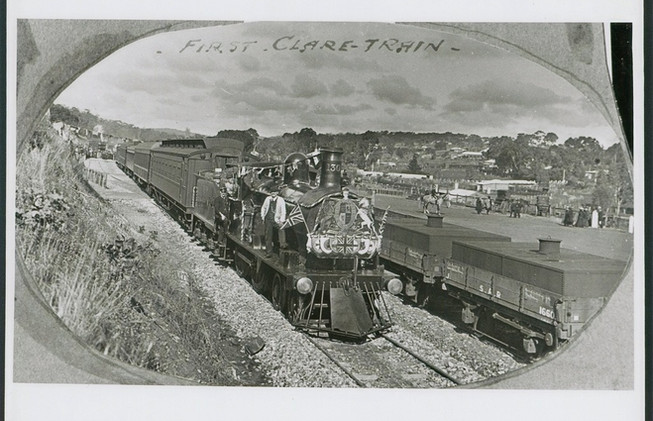 First Clare Train at Railway Station, Clare