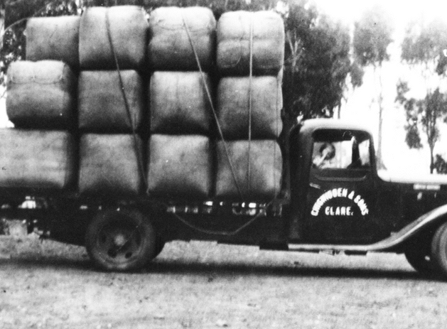 Clare truck loaded with wool bales Pictu