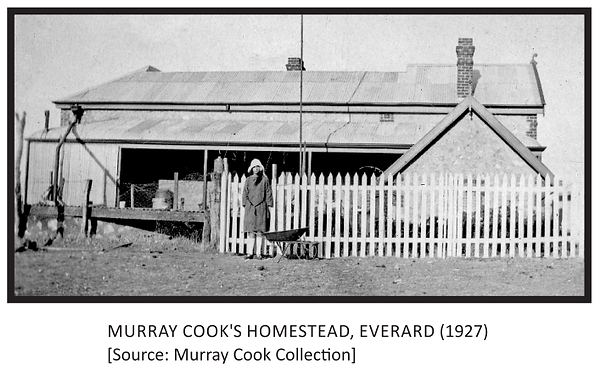 Murray Cook's Homestead, Everard (1927).