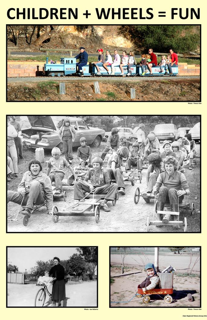 34. Children + wheels = fun