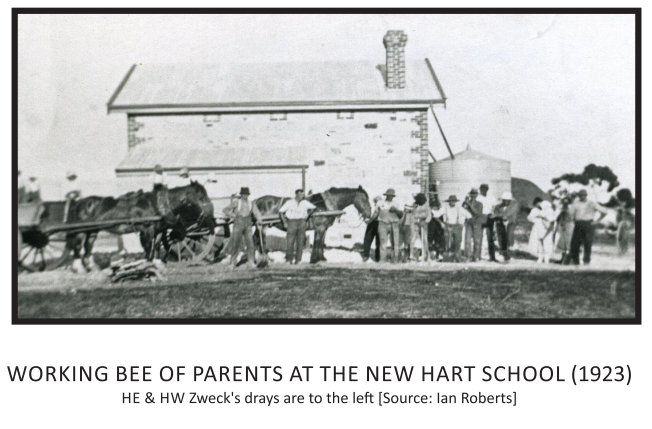 Working Bee of Parents at the New Hart S