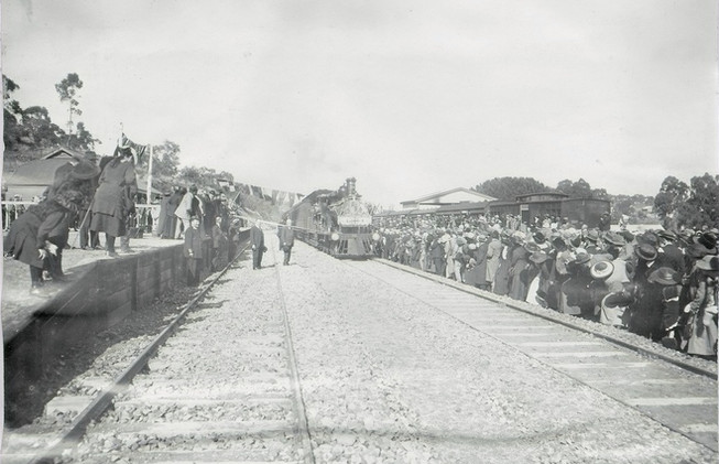 Opening day of the Clare railway station