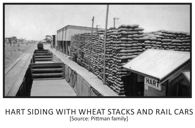 Hart Siding with Wheat Stacks and Rail C
