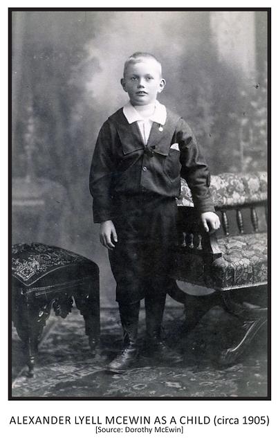 Alexander Lyell McEwanas a child (c. 190
