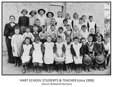 Hart School Students and Teacher (c.1900