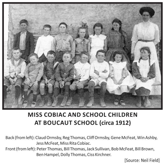 Miss Cobiac and School Children at Bouca