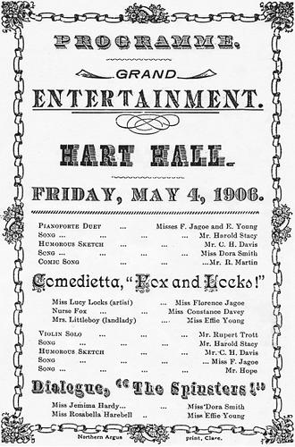 Poster Programme Grand Entertainment Har