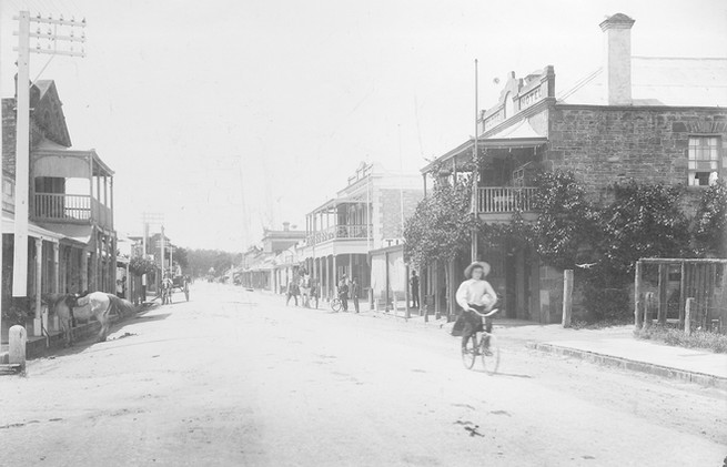 The main street at Clare, South Australi