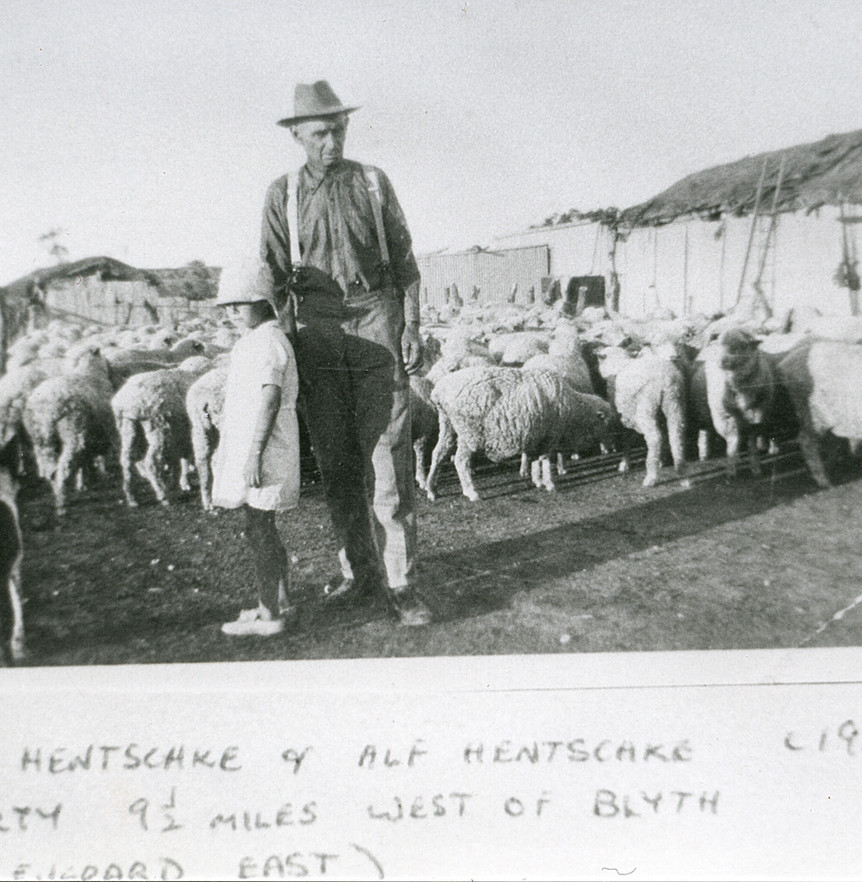 Roma and Alf Hentschke 9.5 Miles West of Blyth