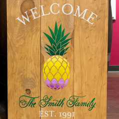 """Pineapple Welcome"" 18x24"