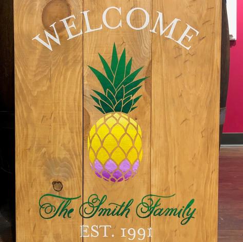 """Pineapple Welcome"" 18x24"